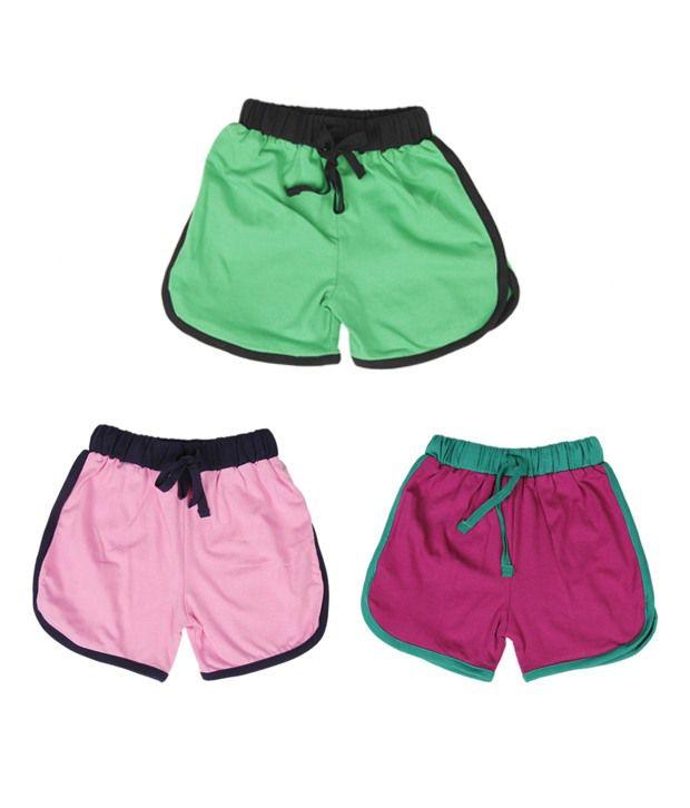 Robinbosky Perky Multicolour Pack of 3 Shorts For Kids