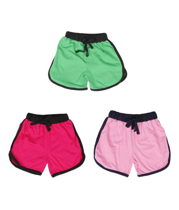 Robinbosky Ravishing Multicolour Pack of 3 Shorts For Kids