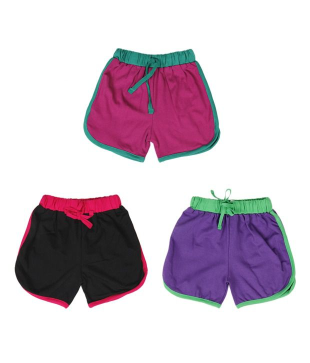 Robinbosky Selected Multicolour Pack of 3 Shorts For Kids