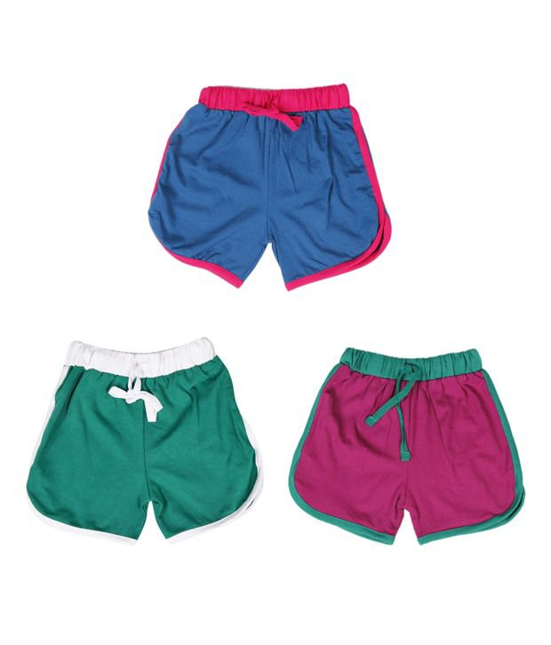 Robinbosky Urbane Multicolour Pack of 3 Shorts For Kids