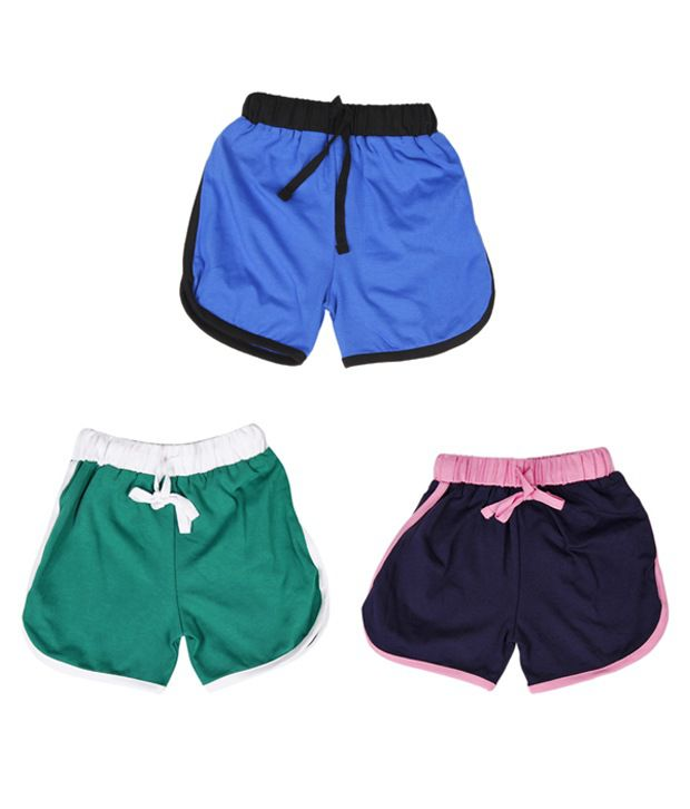 Robinbosky Wonderful Multicolour Pack of 3 Shorts For Kids
