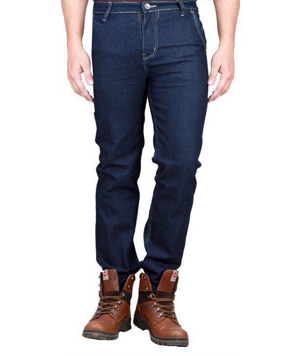 Sam & Jazz Trendy Deep Blue Basics Stretchable Jeans