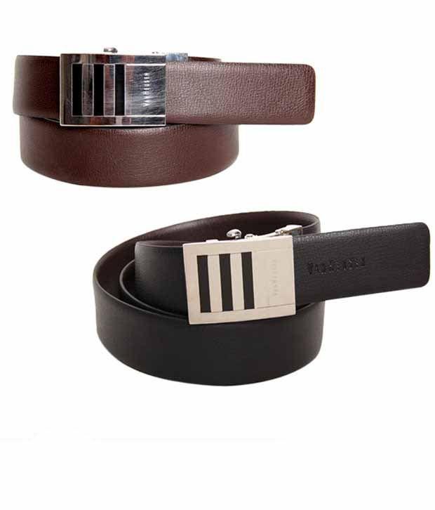 Van Heusen Textured Black & Brown Reversible Belt