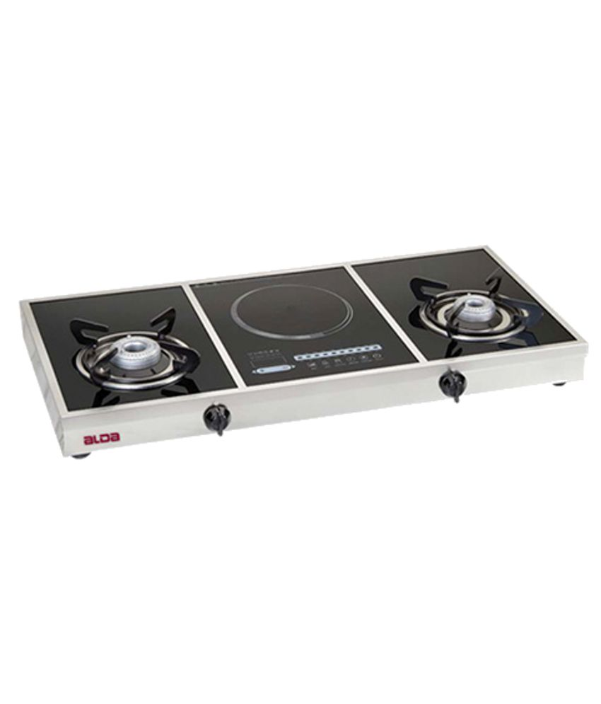 Alda CTA 137 GT Hybrid Plus Induction Gas Cooktop (2 Burner)
