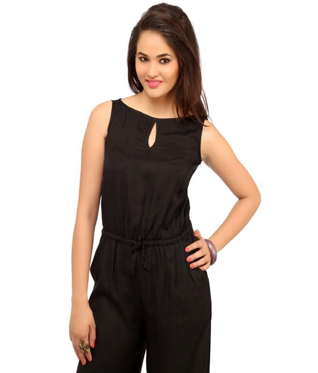 4bdfcbf110d Cottinfab Black Rayon Jumpsuits - Buy Cottinfab Black Rayon Jumpsuits Online  at Best Prices in India on Snapdeal