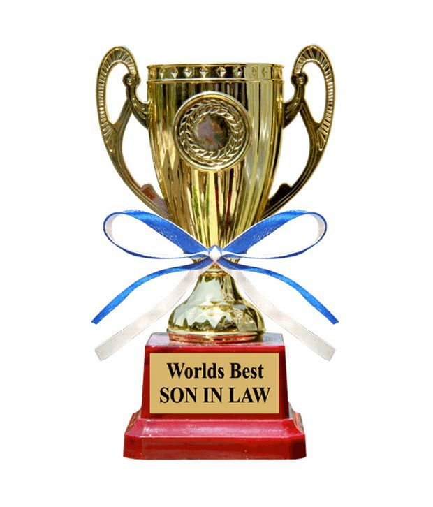 Everyday Gifts Worlds Best Son In Law Trophy For India Gift Ideas