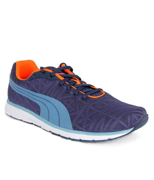 Puma Narita V2 Blue & Orange Sports Shoes ...