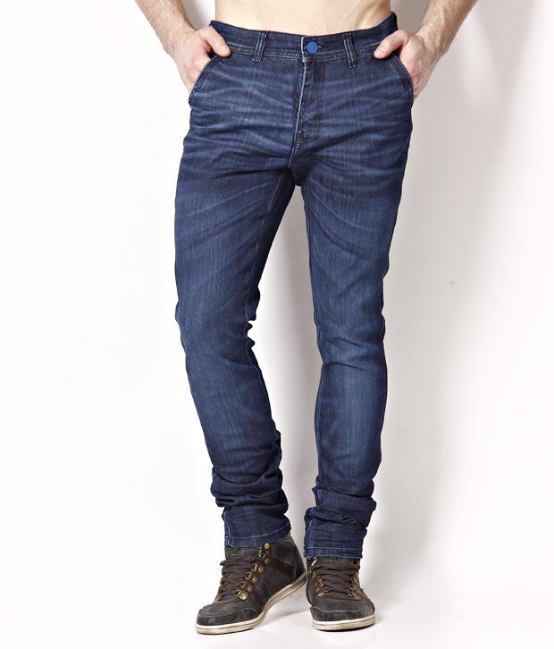 Urban Navy Gentian Blue Whiskered Jeans