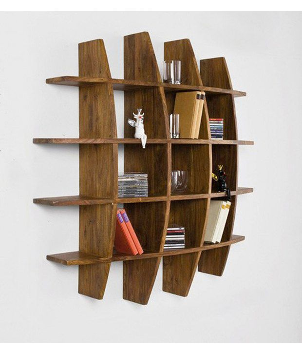 Wood Decor Natural Sheesham Wood Wall Hanging Bookcase Buy Wood Decor Natural Sheesham Wood