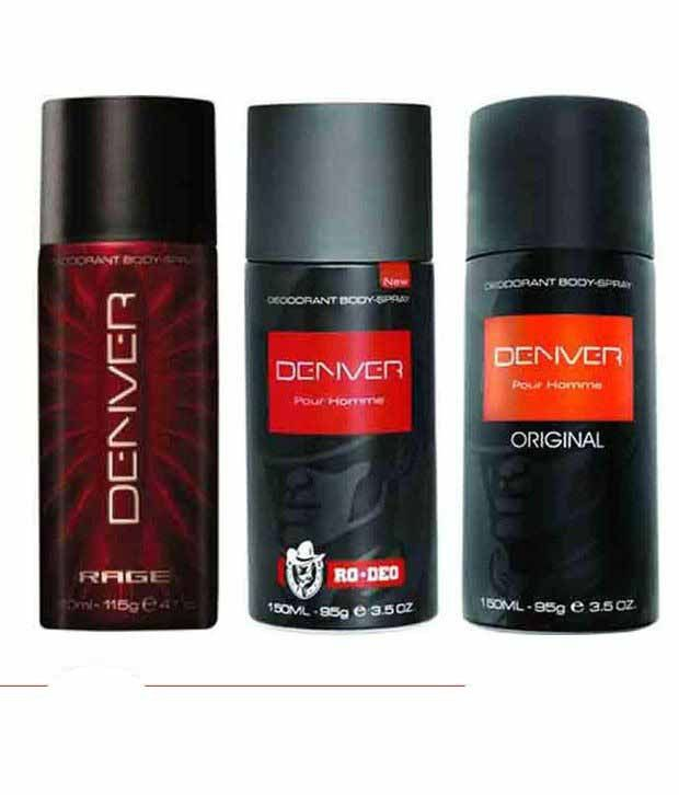 Denver (orginal, Rage, Ro) Deodorant Pour Homme - 150ml Each (pack Of 3)  available at snapdeal for Rs.510