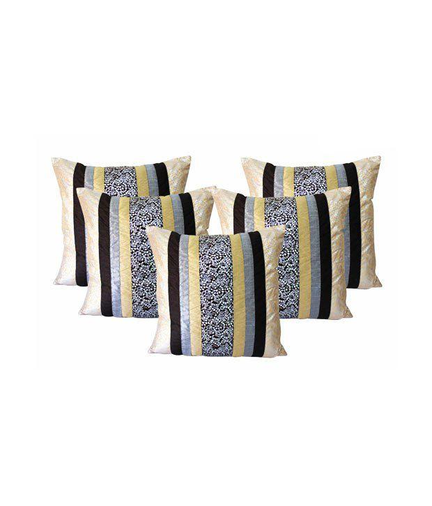 Dekor World Ehnic BLACK Cushion Covers (16x16 inches)
