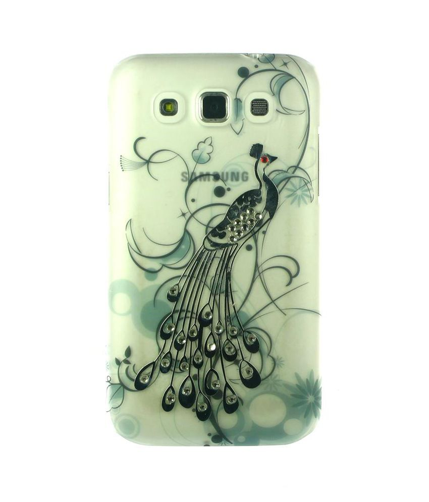 Dressmyphone Peacock Design Back Cover for Samsung Galaxy Grand Quattro i8552 - Green