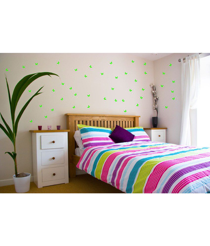 wow interiors and decors glowing butterfly small size wall sticker wow interiors and decors glowing butterfly small size wall sticker