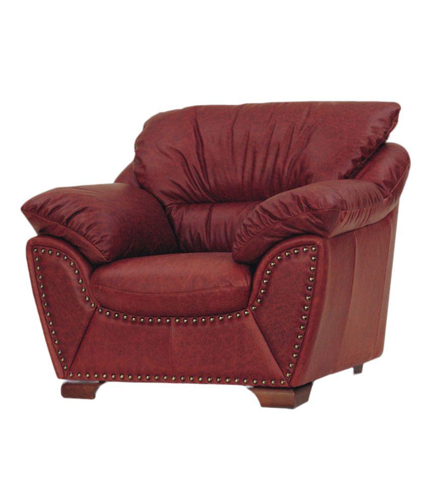Sofa Buy Online: Antiquity Love Seat Single Seater Sofa-Maroon