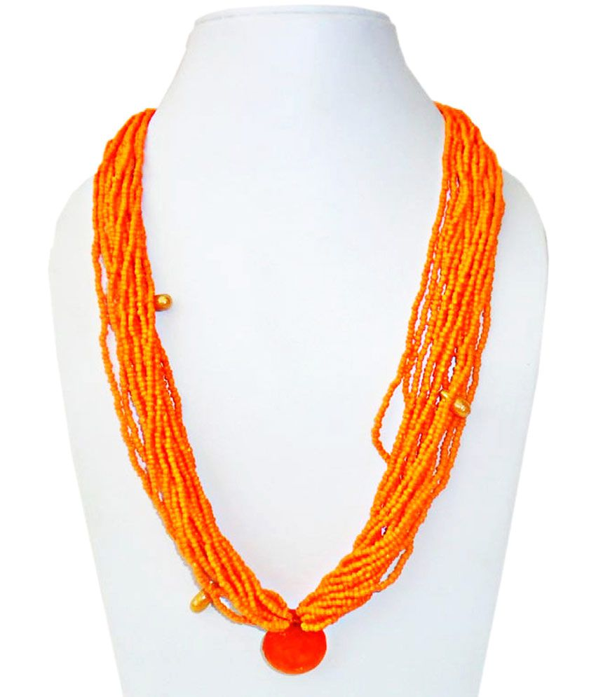 Gifts & Decor Beautiful Orange Necklace