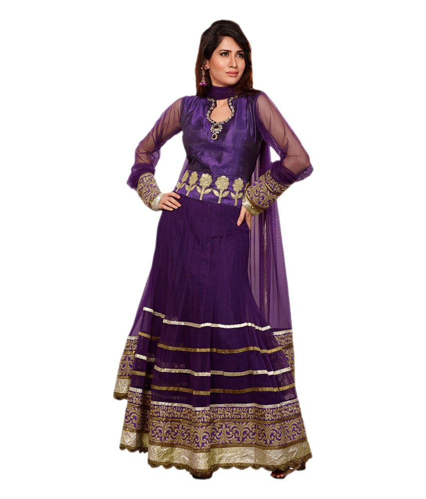 Indian Wholesale Clothing Green Net Unstitched Dress Material