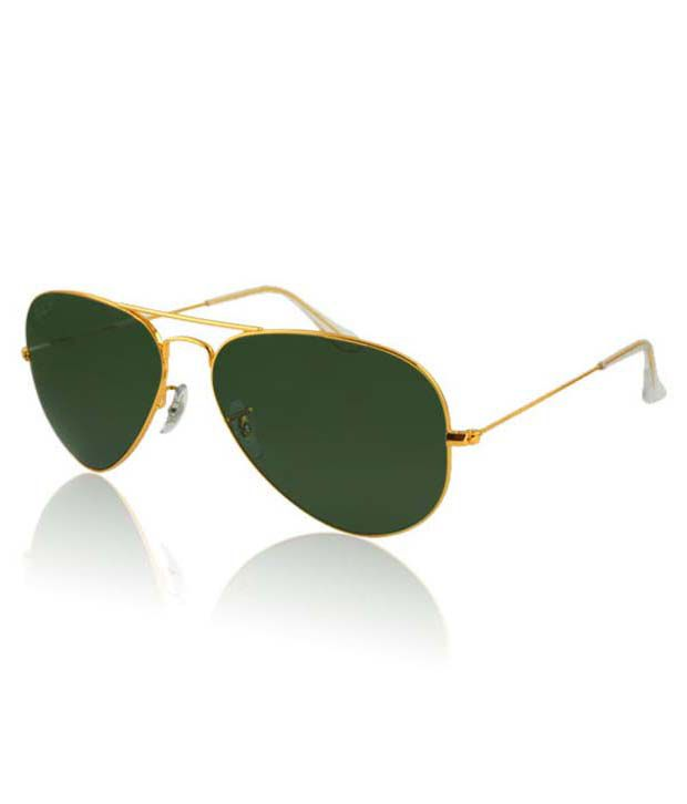 Ray-Ban Green Polarized Aviator Sunglasses (RB3025 001 58 55-14) - Buy Ray- Ban Green Polarized Aviator Sunglasses (RB3025 001 58 55-14) Online at Low  Price ... 3bece750e383
