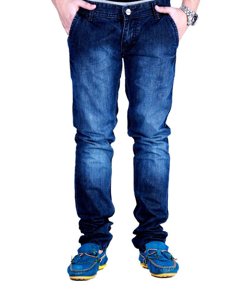 Sam & Jazz Superb Cotton Faded   Blue Jeans