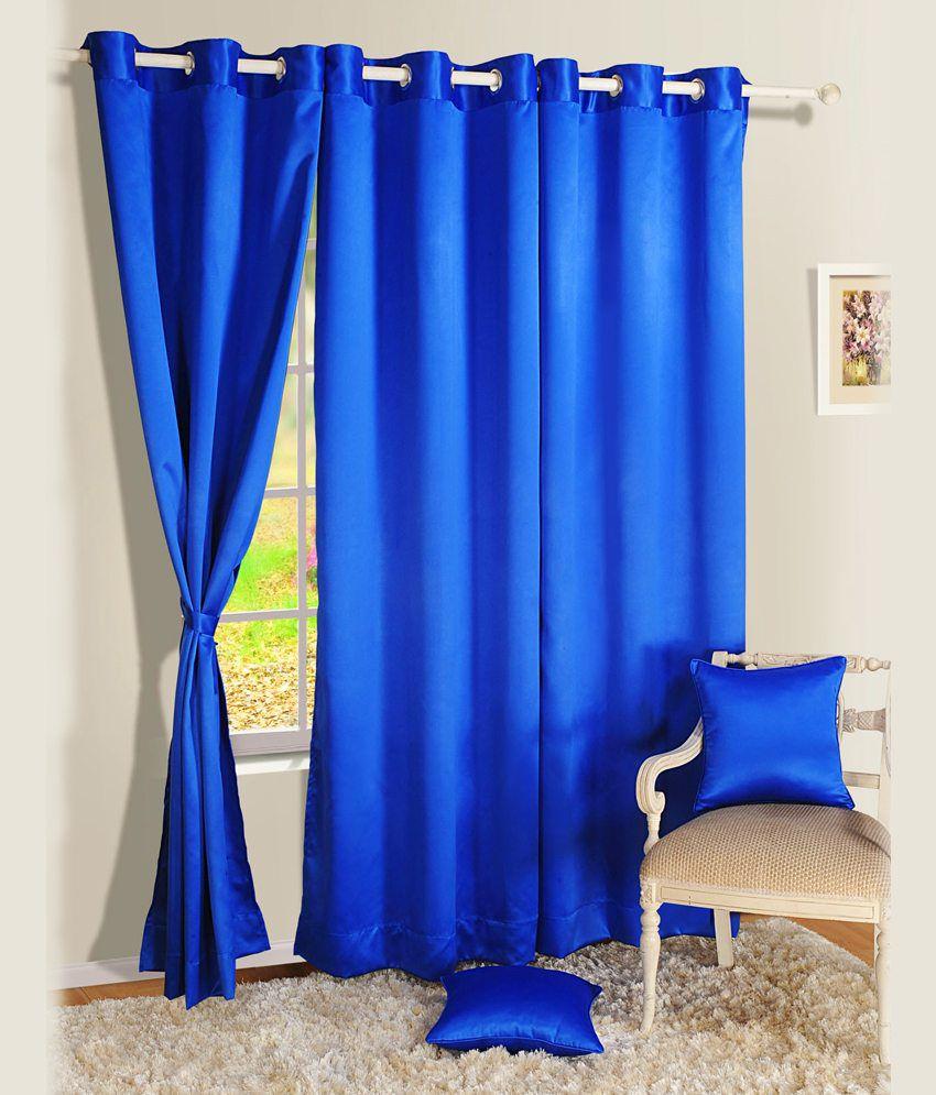 Swayam Single Long Door Blackout Eyelet Curtain