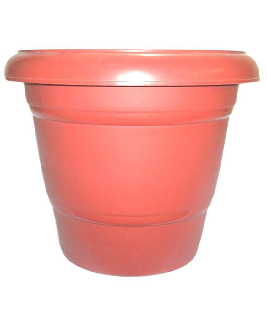 The Chajjed Garden Brown Virgin Plastic Pots Planters
