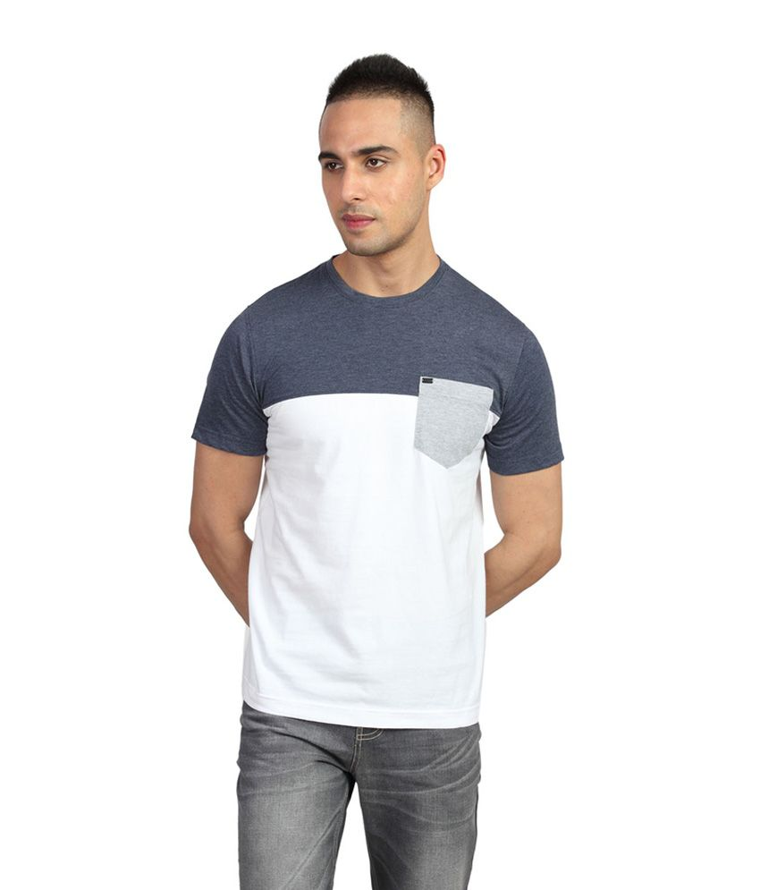 Identiti Blue Half Cotton Round T-Shirt