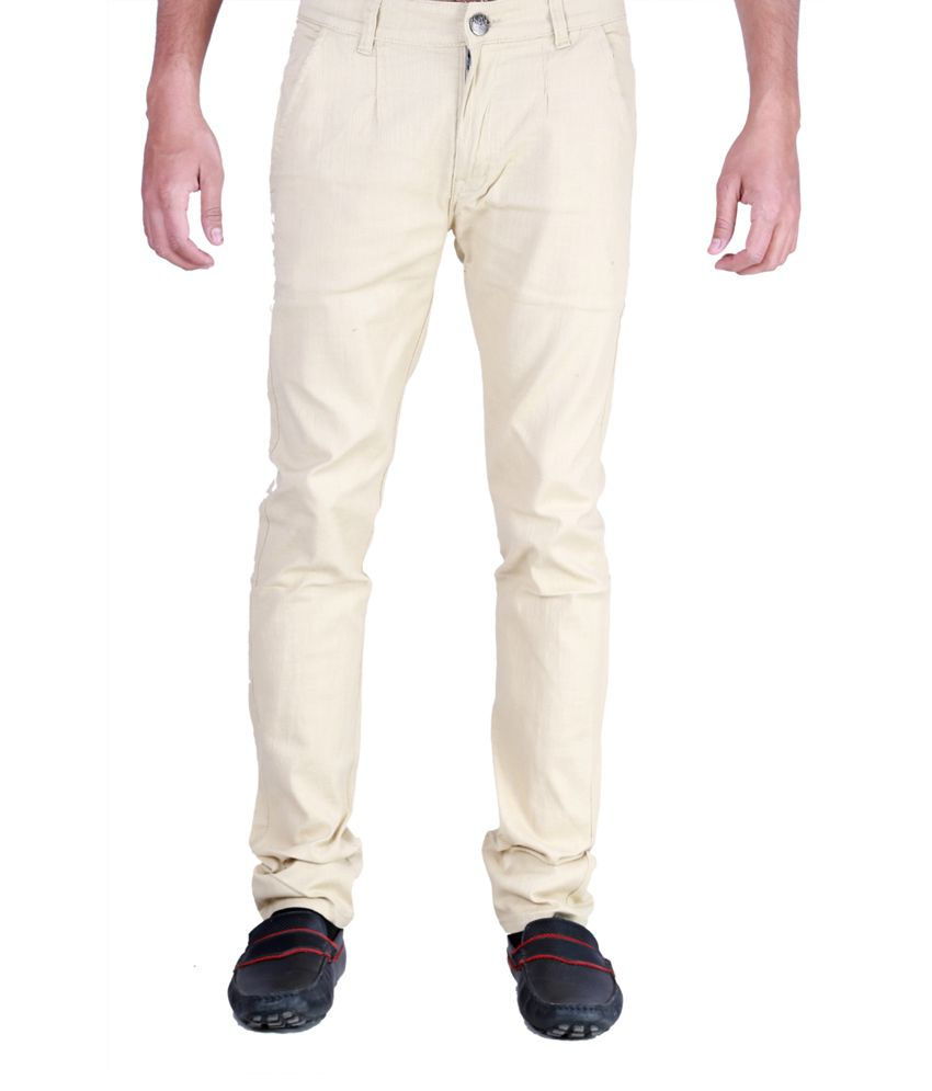 Sam & Jazz Cream Streacble   Chinos