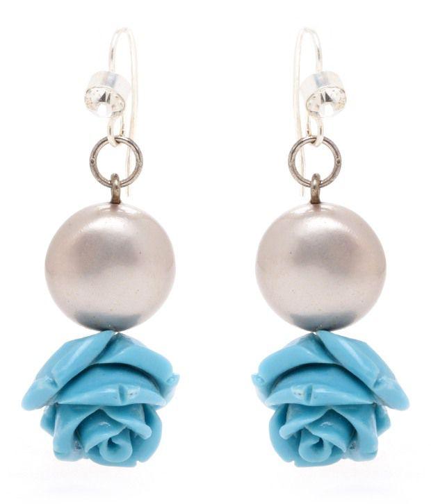 Spyra Blue Coral Design Earrings