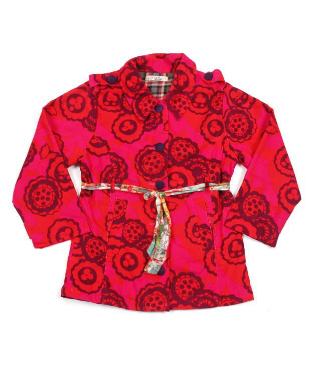 Riya N Zoe Full Sleeve Cotton Printed Coat For Infant Girls