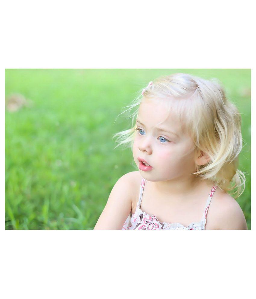 artifa cute baby girl with blue eyes poster: buy artifa cute baby