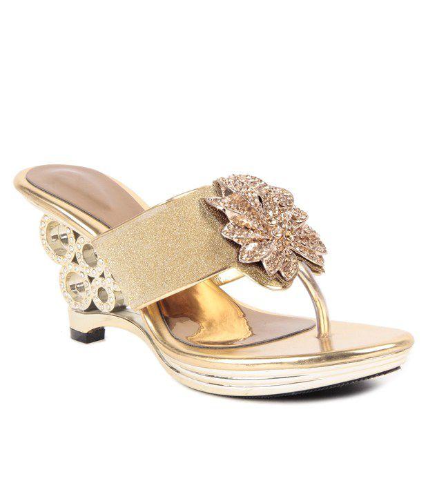 Reyna Gold Heels
