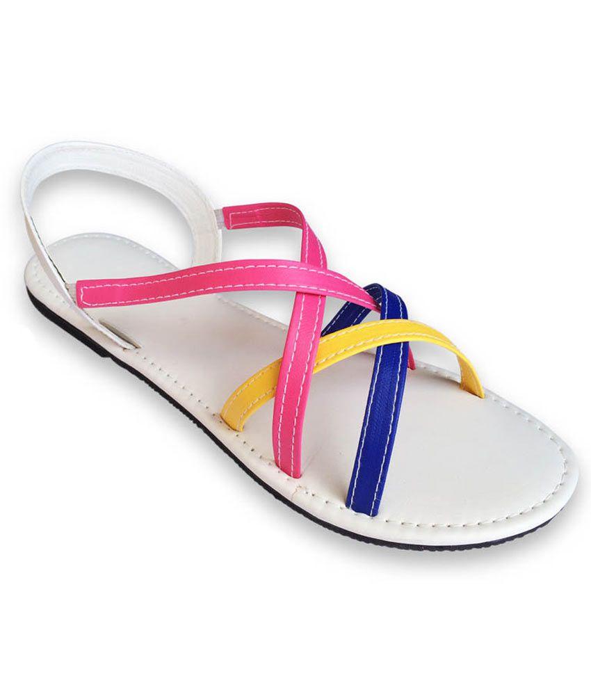 Sindhi Footwear White Sandal