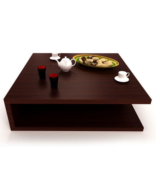 Volga Coffee Table Mahogany Finish In Teak Wood Buy Volga