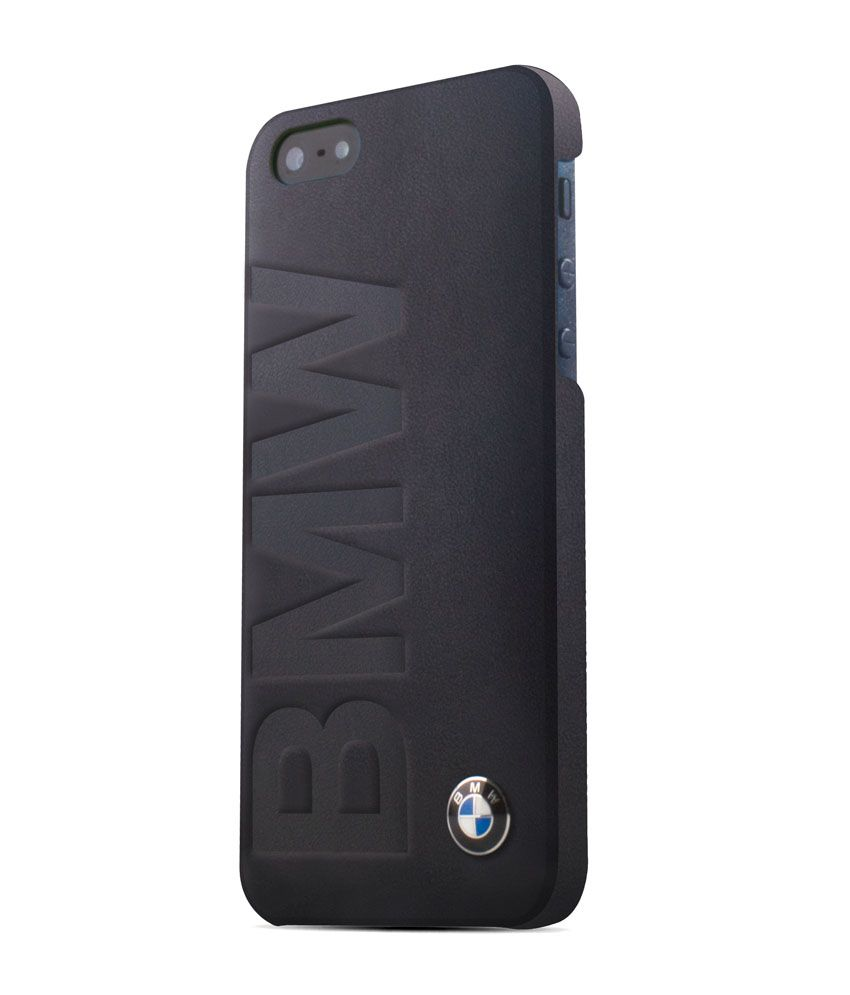 Bmwplain: BMW Signature Collection Debossed Logo Leather- Black Hard