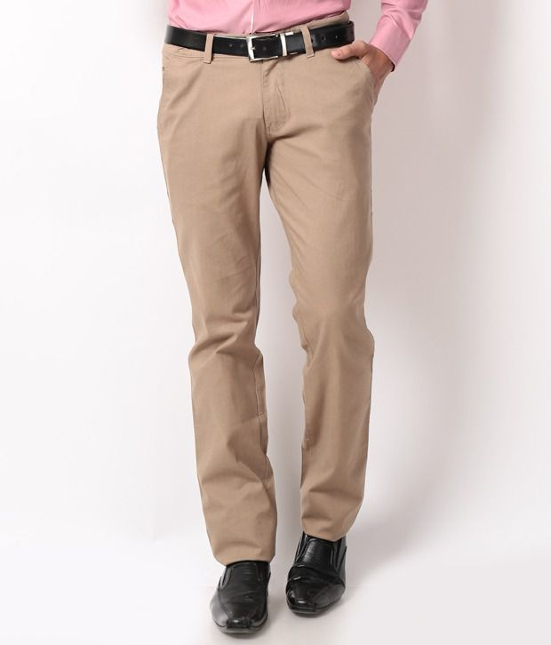 British Terminal Brown Regular Casuals Chinos