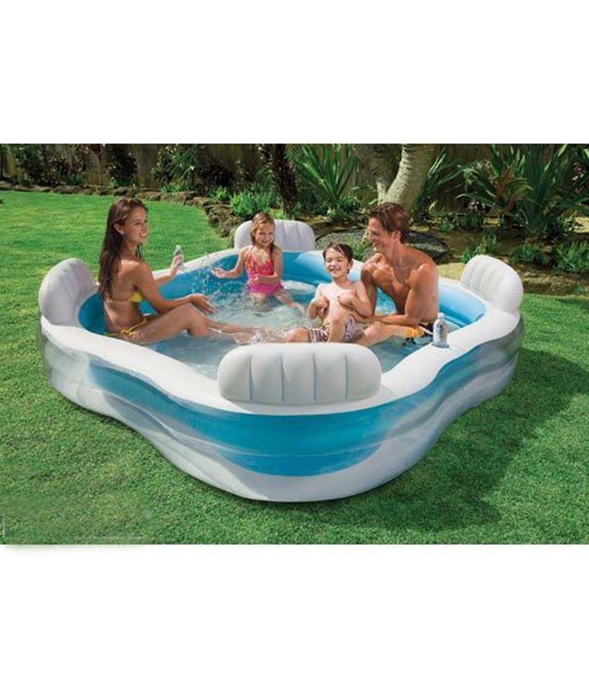 Intex swim centre family lounge pool schwimmbad und saunen for Intex pool 150 cm tief