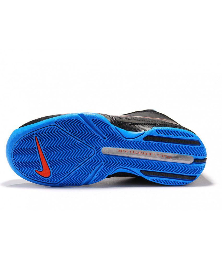 premium selection 29670 d1055 ... Nike Air Quick Handle Basketball Shoes (Black Blue) ...