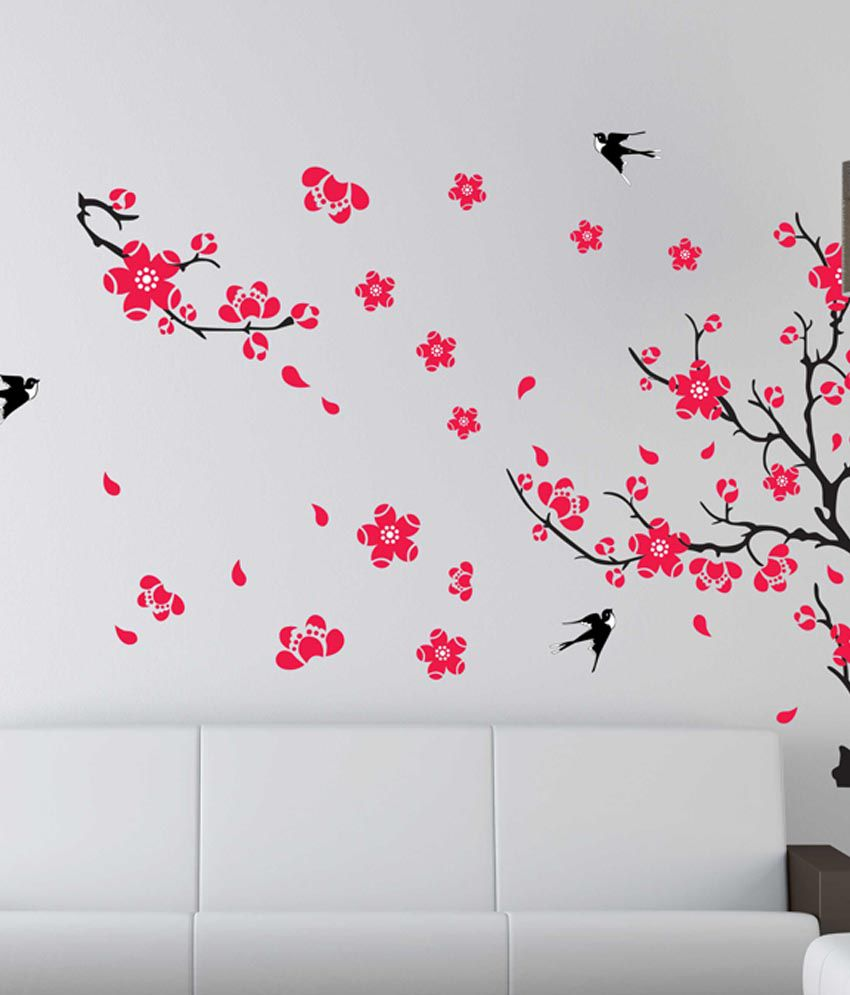 Wall Decor Stickers Snapdeal : Syga printed pvc vinyl multicolour wall stickers buy