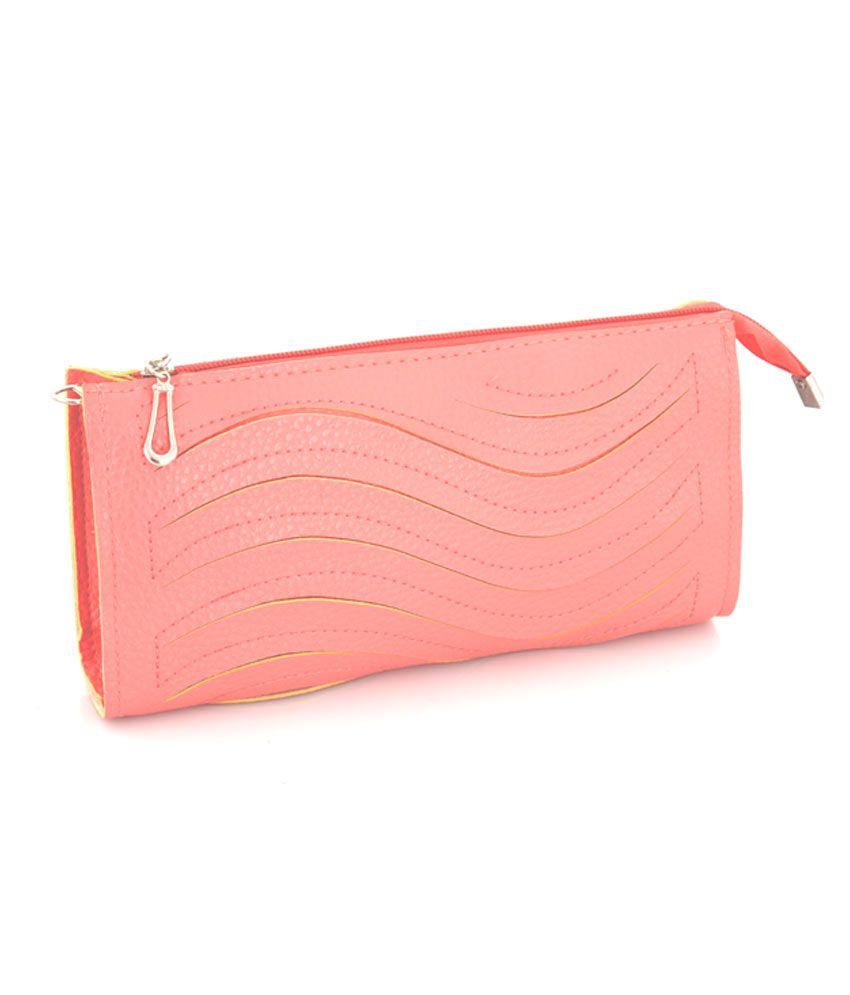 Bovino Dark Pink Leatherette Clutch