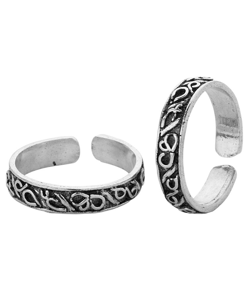Voylla Toe Rings etched with lovely design