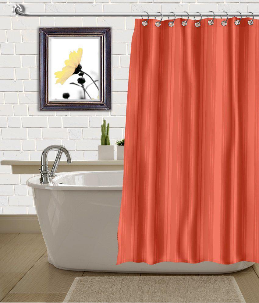 Tangerine Orange Shower Curtain - Buy Tangerine Orange ...