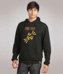 Campus Sutra Jazzy Black Sweatshirt