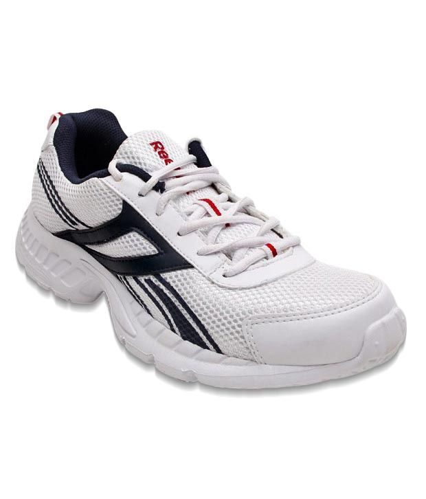 Reebok Energetic White & Navy Blue Sports Shoes