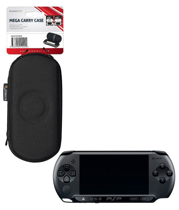 Sony Playstation Portable (PSP) E-1004 Black with Mega Carry Case