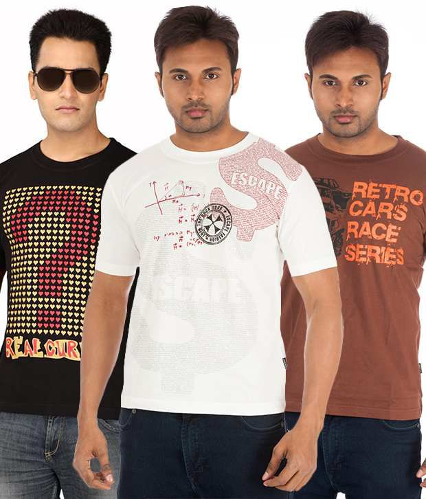 TSG Escape Pack of 3 Half Sleeves T Shirts