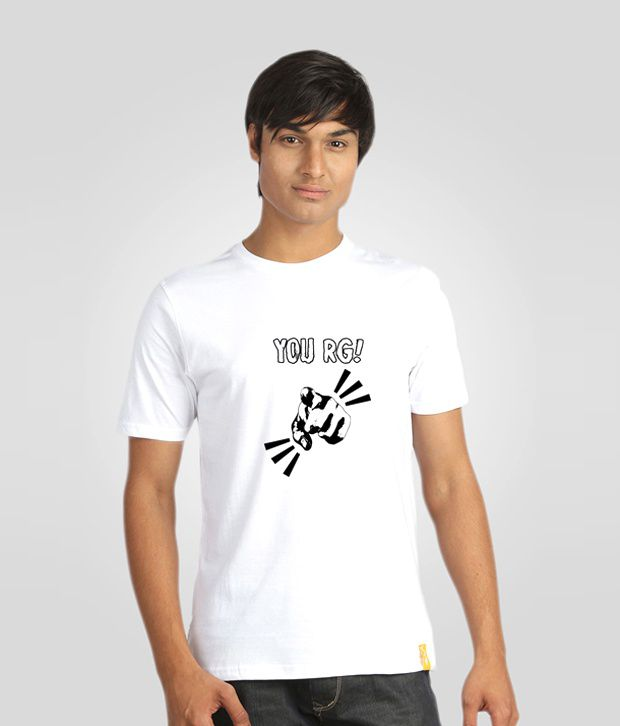 Campus Sutra White T Shirt