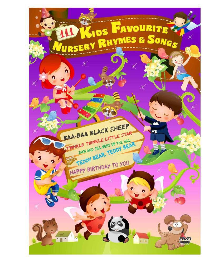 111 Kids Favourite Nursery Rhymes & Songs (English) [DVD ...