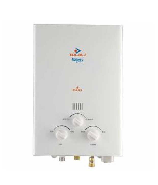 Bajaj Majesty Duo PNG/LPG 5.5 Ltr Gas Water Heater
