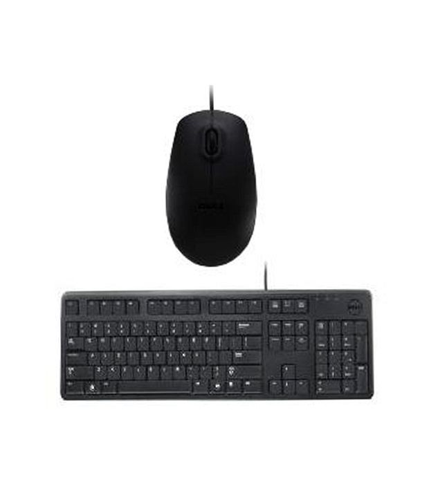 Dell USB Keyboard Mouse Combo KB212 MS111(Black) With Wire