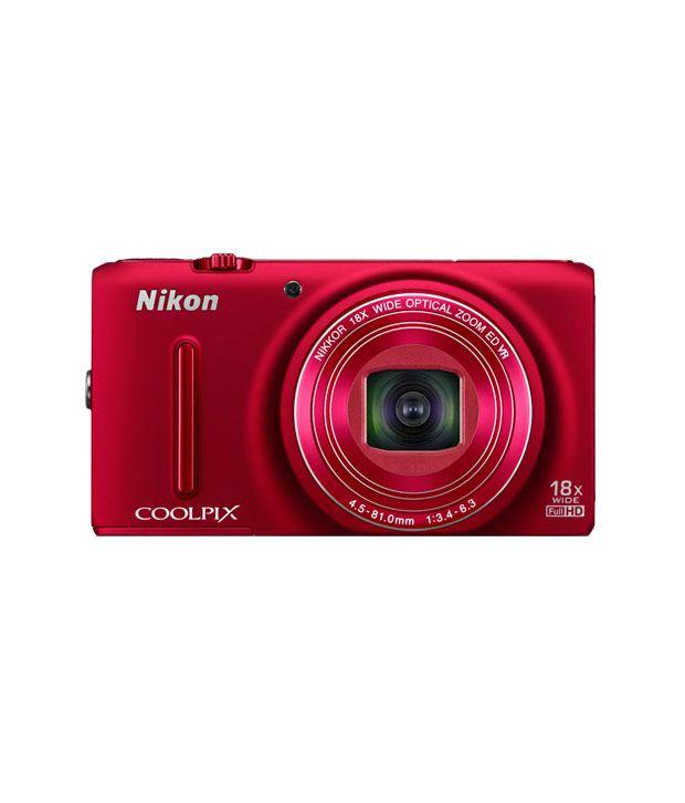 Nikon Coolpix S9400 18.1MP Digital Camera (Red)