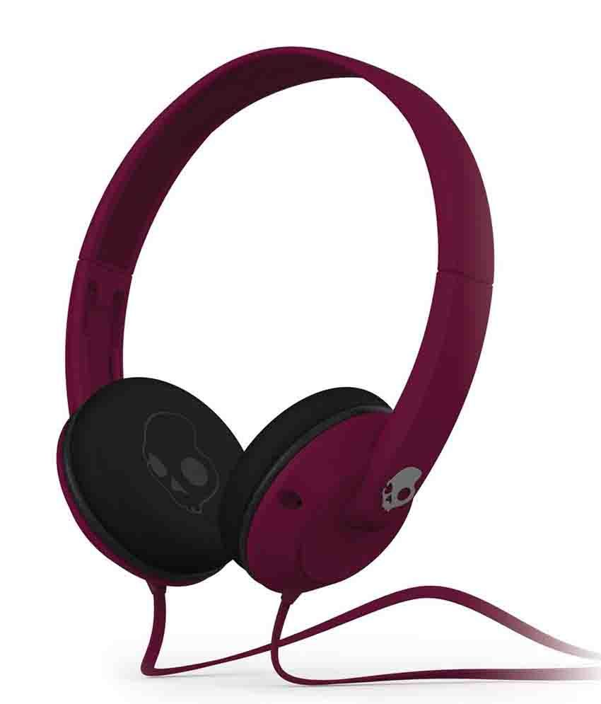 Skullcandy UPROCK S5URDY-236 Over Ear Headphones with Mic (Pink) With Mic